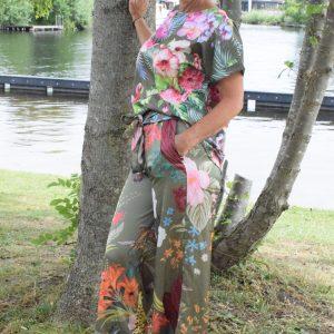 flamingo top green - flower power pant green