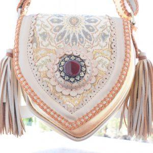 world family ibiza caramelo bag gold