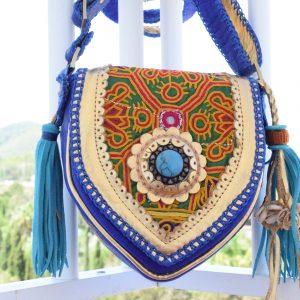 world family ibiza caramelo bag blue