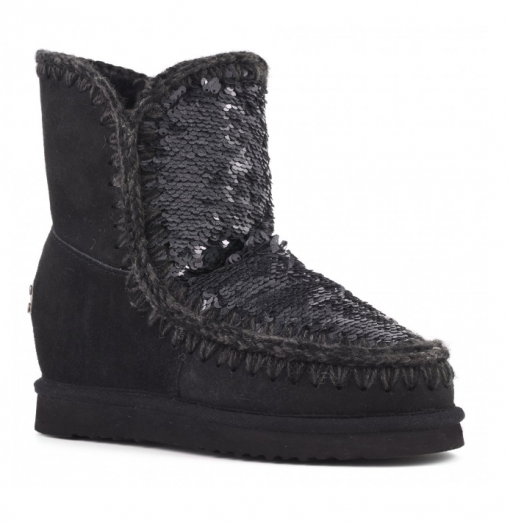 mou wedge sequin black